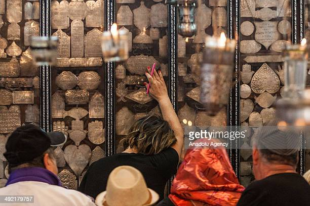 Jewish pilgrims from Tunisia Europe and Israel cease their annual pilgrimage at El Ghriba Synagogue the oldest Jewish monument built in Africa on the...