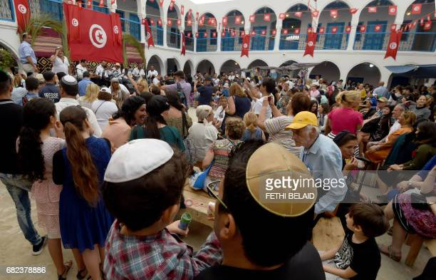 Jewish pilgrims take part in the annual pilgrimage to the Ghriba synagogue on the Tunisia's Mediterranean resort island of Djerba on May 12 2017...