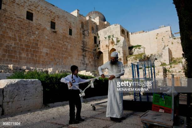 A Jewish priest known as Cohanim who advocate for the construction of the third Temple dresses in traditional ceremonial garments as they follow...