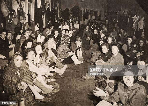 Jewish prisoners rescued by British troops who liberated the Belsen Concentration camp 15th April 1945 The Royal Army Medical Corps number 11 Light...