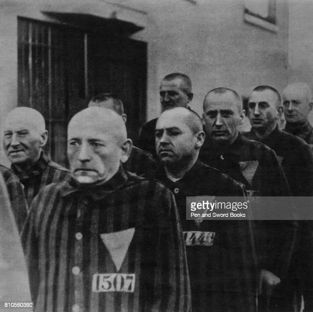 Jewish Prsioners Standing in Order