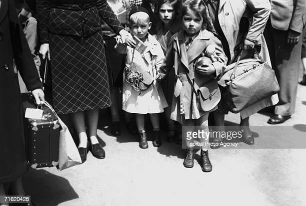 Jewish refugee children from Germany and Austria arrive at Liverpool Street Station in London at the start of World War II 5th July 1939