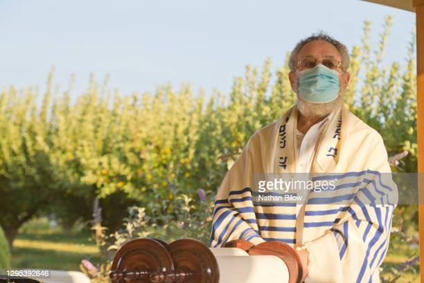 jewish religious services 2020 - jewish prayer shawl stock pictures, royalty-free photos & images