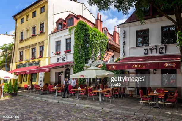 Jewish restaurant and cafe pub in Kazimierz district in Krakow, Poland