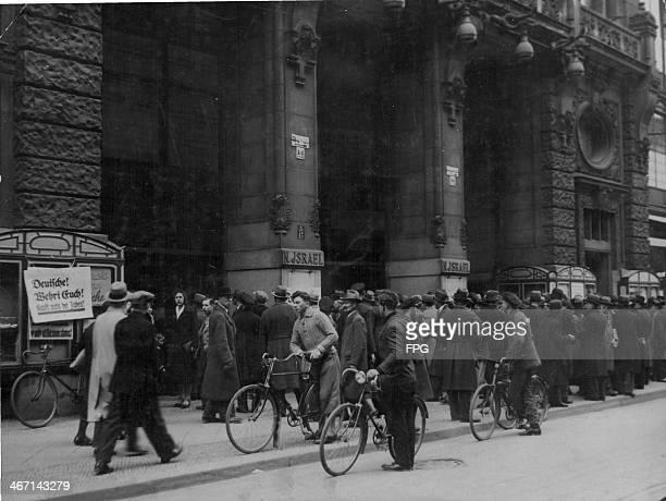 A Jewish store during the Nazi boycott Berlin Germany 1933