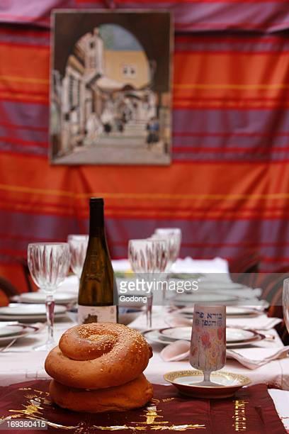 Jewish sukkot celebration.
