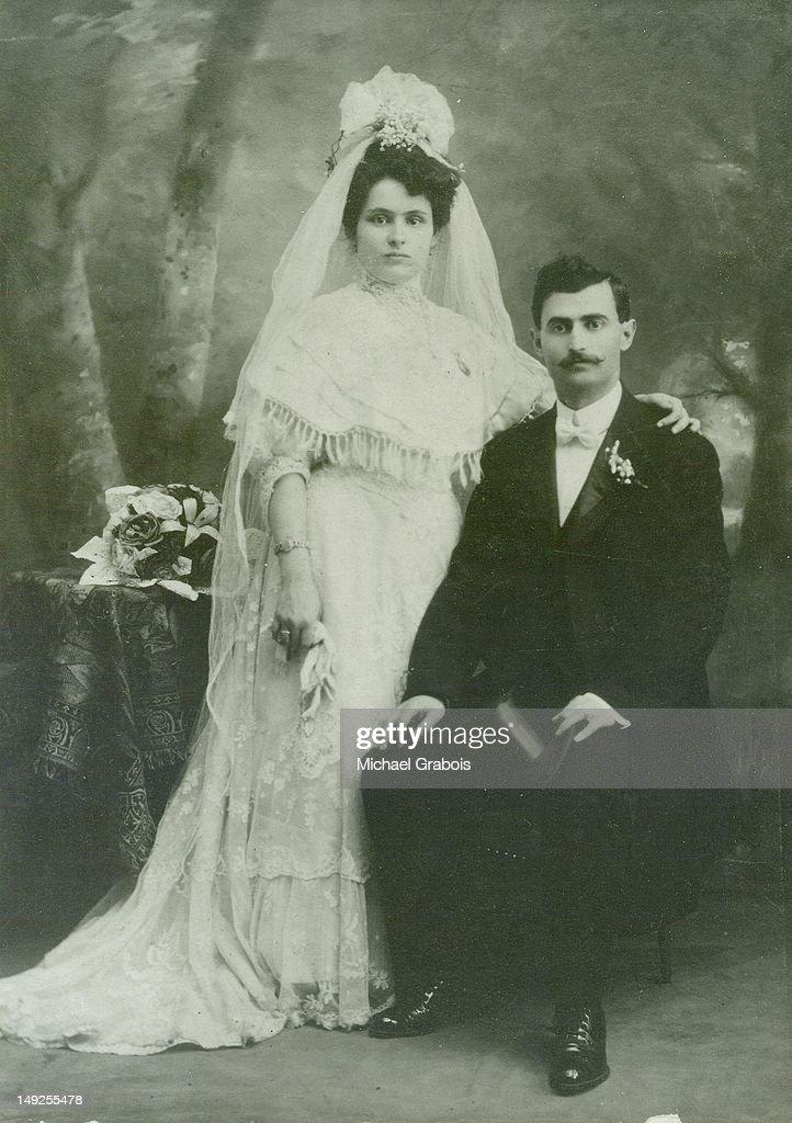 Jewish Wedding 1908 Stock Photo