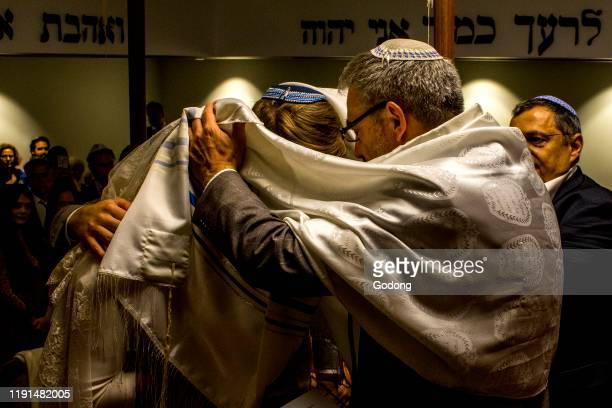 Jewish wedding in a Paris synagogue France