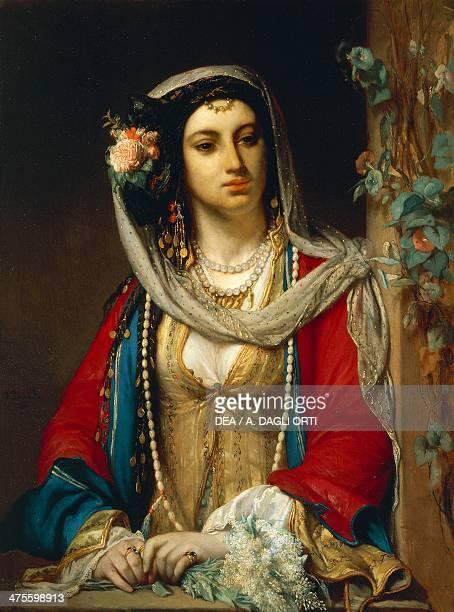 Jewish woman from Cairo by Jean Francois Portaels oil on canvas 19th century Trieste Castello Di Miramare