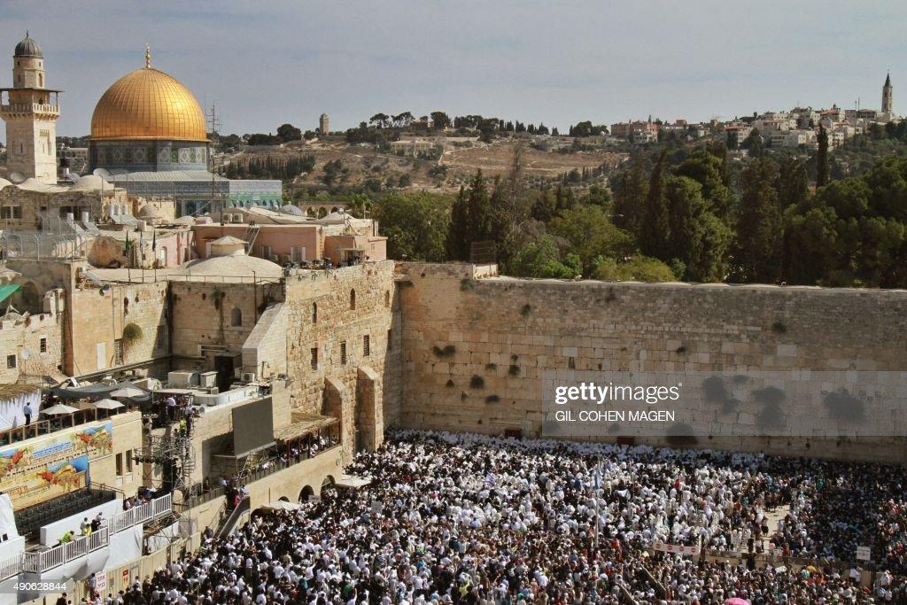 ISRAEL-RELIGION-JUDAISM-SUKKOT : News Photo