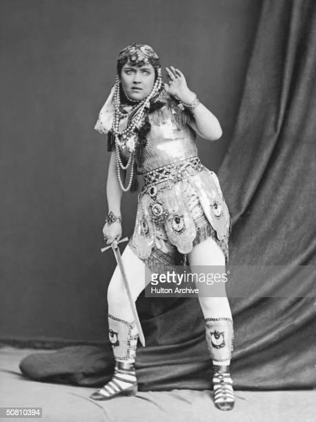 Jewish-American actress Adah Isaacs Menken in an exotic costume , circa 1862.