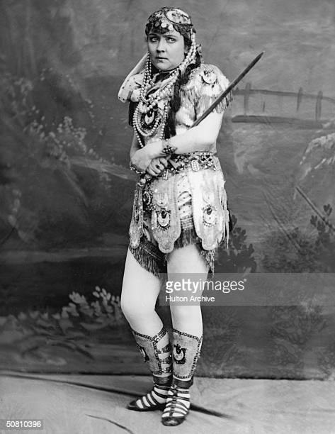 Jewish-American actress Adah Isaacs Menken in an exotic costume , circa 1862.