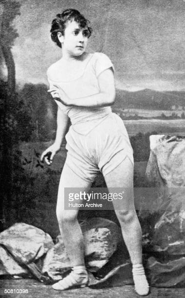 Jewish-American actress Adah Isaacs Menken in her most famous role as the Tartar Mazeppa, circa 1862.