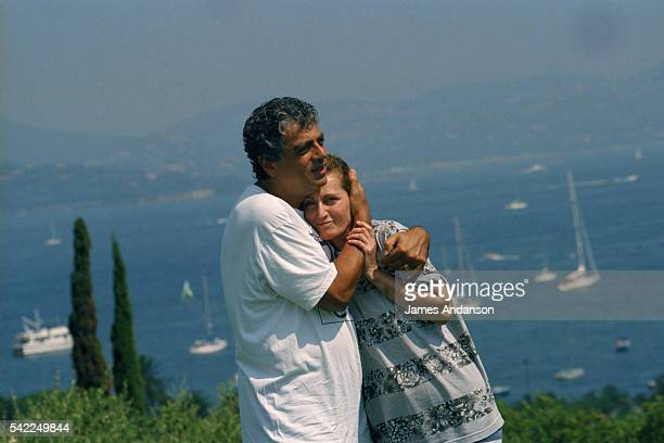 JewishFrench singer and songwriter Enrico Macias and his wife Suzy on holiday in SaintTropez