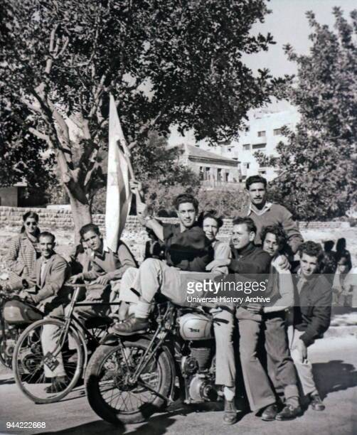 Jews in Jerusalem waving a flag express joy after the Partition Plan on November 29 1947 The United Nations Partition Plan for Palestine was a...