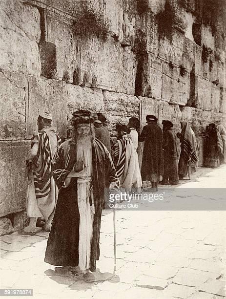 Jews praying at the Wailing Wall Jerusalem 1894 Jewish quarter