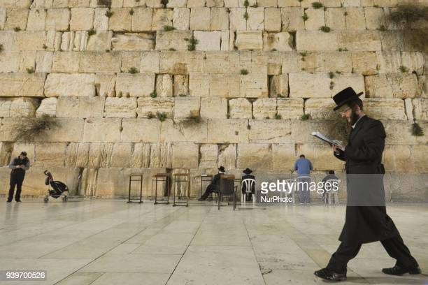 Jews praying at the Western Wall inside the Old City in Jerusalem Wednesday 14 March 2018 in Jerusalem Israel