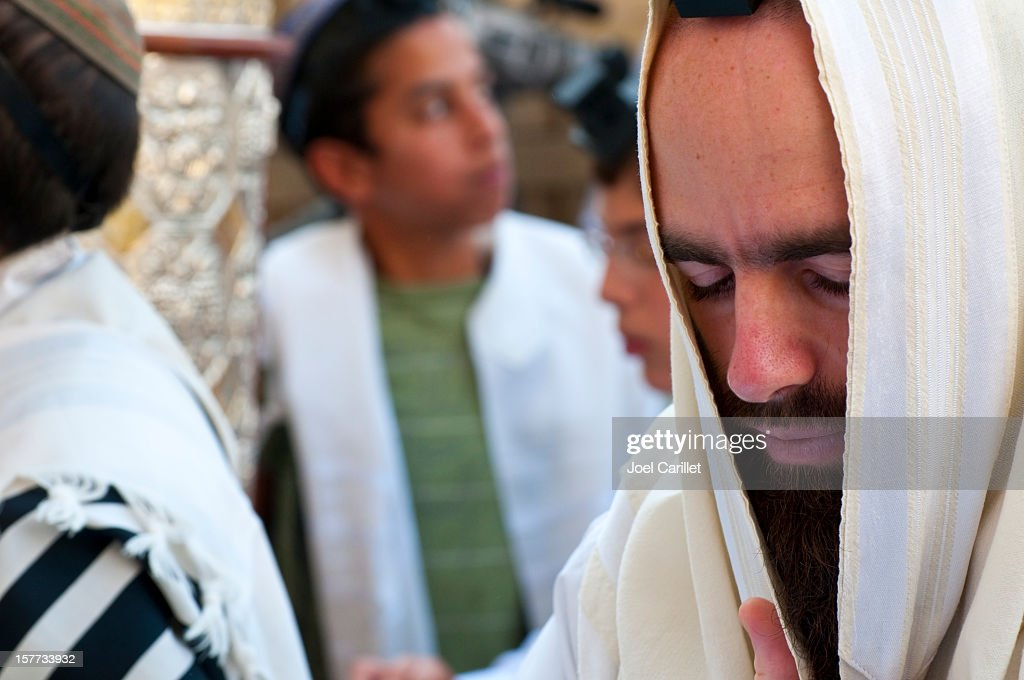 Jews praying in Jerusalem : Stock Photo