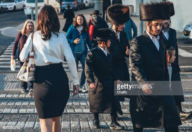 jews walking in jerusalem - judaism stock pictures, royalty-free photos & images