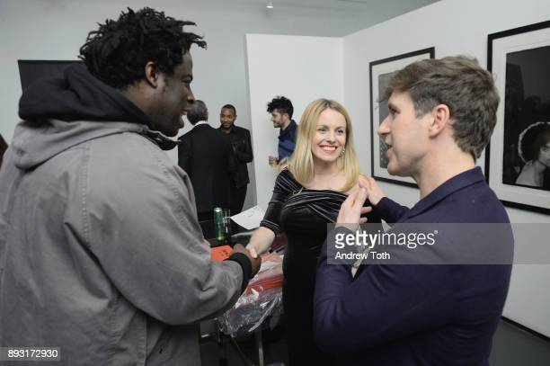 Jeymes Samuel Manager The Marse Group Eliona Cela and Creative Director at NJG Studio Nick Groarke attend Robert Whitman Presents Prince 'Pre Fame'...