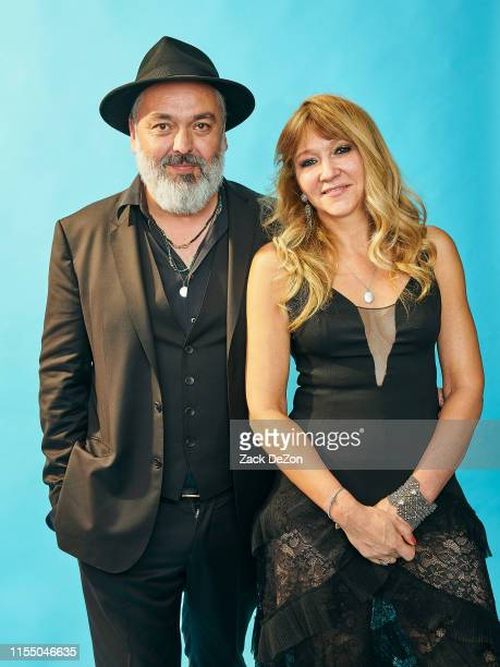 Jez Butterworth and Sonia Friedman of The Ferryman poses for a portrait during the 73rd Annual Tony Awards on June 09 2019 in New York City