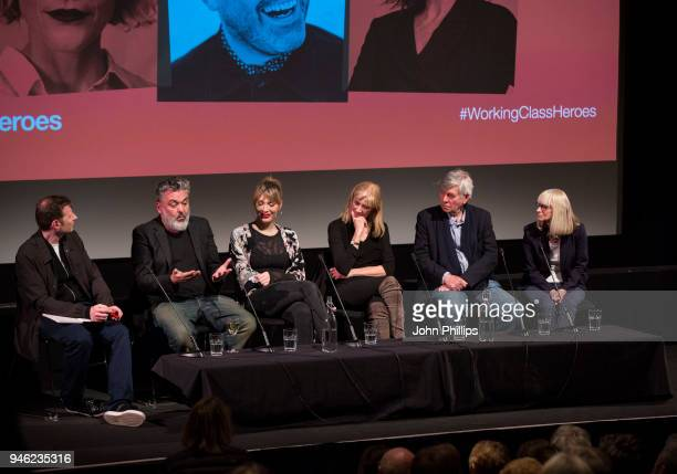 Jez Butterworth Paris Lees Joely Richardson Tom Courtenay and Rita Tushingham during the Working Class Heroes event a series of discussions and...