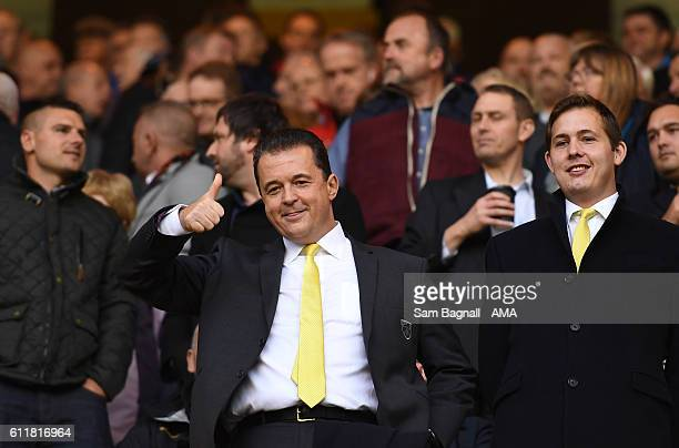 Jez Moxey CEO of Norwich City returns to his former club Wolverhampton Wanderers during the Sky Bet Championship match between Wolverhampton...