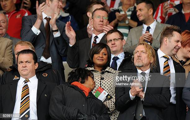 Jez Moxey CEO of Wolverhampton Wanderers and Robert Plant