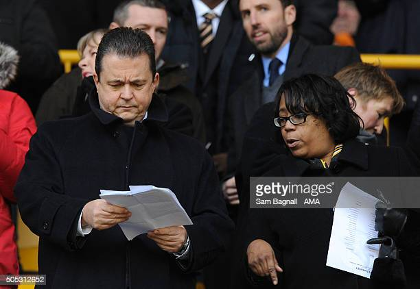 Jez Moxey CEO of Wolverhampton Wanderers during the Sky Bet Championship match between Wolverhampton Wanderers and Cardiff City at Molineux on...