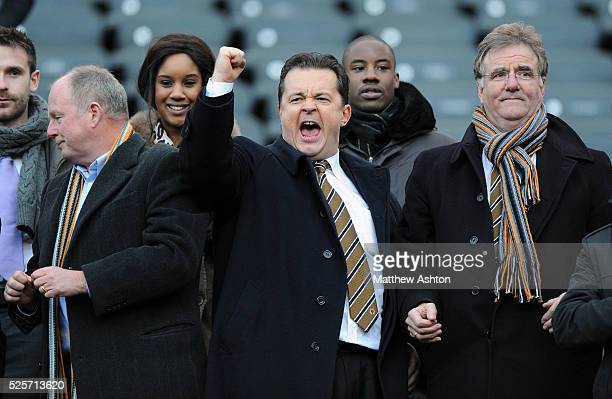 Jez Moxey the CEO of Wolverhampton Wanderers celebrates at full time