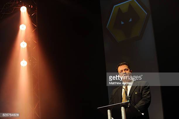 Jez Moxey the CEO of Wolverhampton Wanderers speaks during the Wolverhampton Wanderers End of Season Dinner
