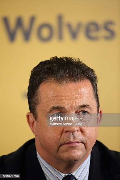 Jez Moxey the Chief Executive of Wolverhampton Wanderers attends a press conference on August 1 2016 in Wolverhampton England