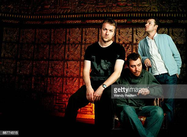 Jez Williams Andy Williams and Jimi Goodwin of Doves pose for a group shot on October 29 2002 in Los Angeles California