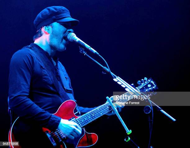 Jez Williams of Doves performs at Manchester Central on December 18, 2009 in Manchester, England.