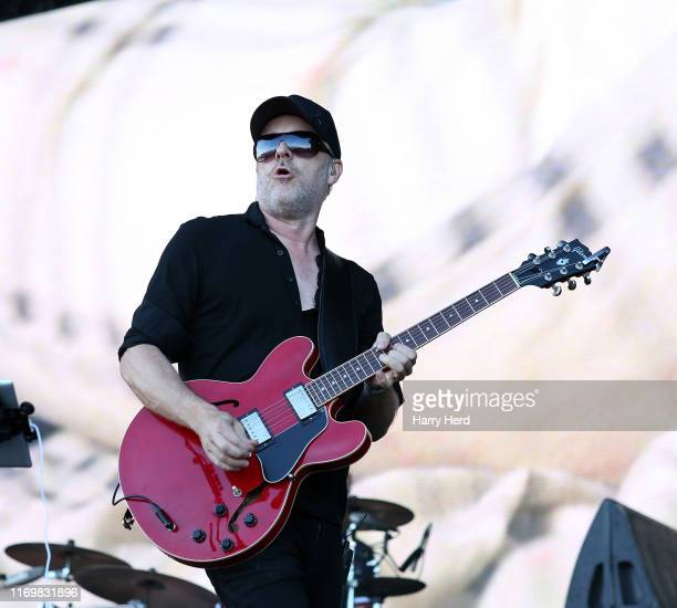 Jez Williams of Doves performs on stage during Victorious Festival 2019 at Southsea Seafront on August 23, 2019 in Portsmouth, England.