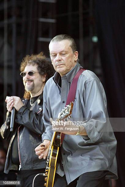 Geils and Magic Dick of the J Geils Band perform at Fenway Park on August 14 2010 in Boston Massachusetts