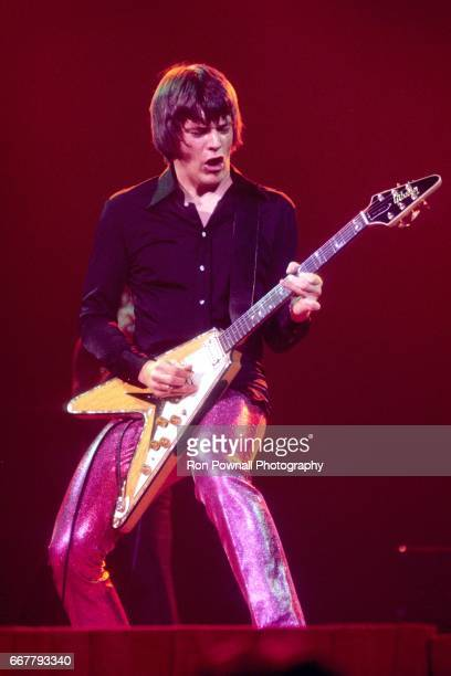 Geils of the J.Geils Band perfoms at the Providence Civic Center in January 1974 in Providence, Rhode Island.