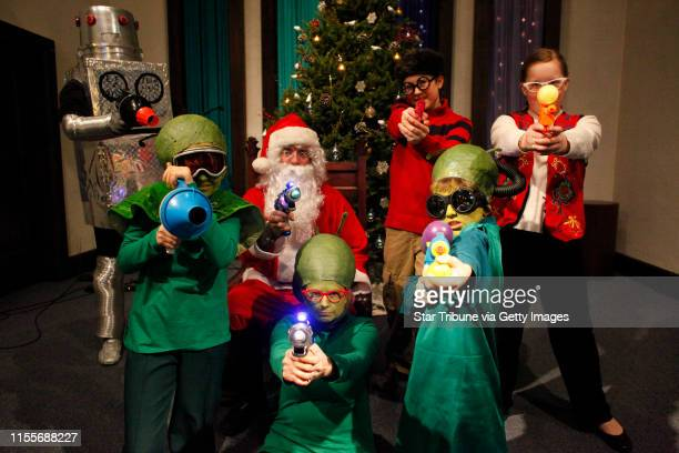 "jgholt@startribunecom ] Members of the play ""Santa Claus Conquers the Martians"" left to right Jessica Harris Kevin Johnson Evan Green and Carley..."