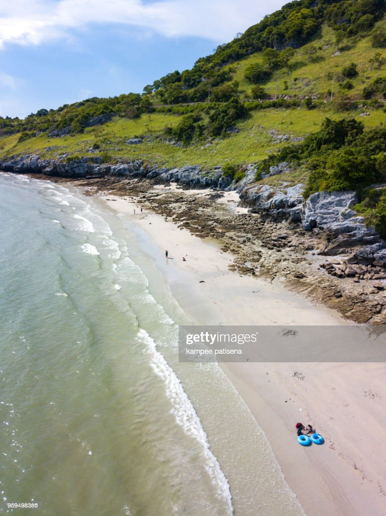 Jhakhrapong Point (End of Tham Pang Point). famous beach at Sichang island in Thailand. : Stock-Foto