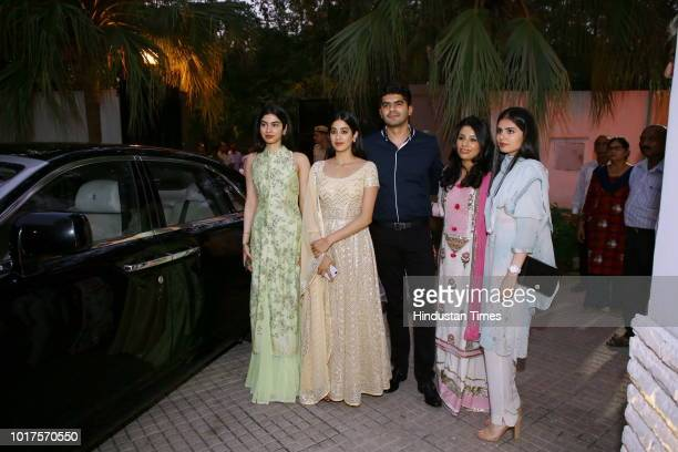 Jhanvi and Khushi Kapoor during a special event to mark late actor Sridevi's 55th birth anniversary organised by Ministry of Information and...