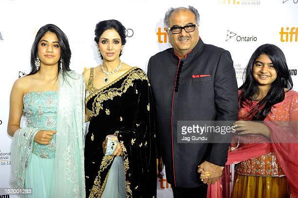 Jhanvi Kapoor Actress Sridevi Kapoor Boney Kapoor and Khushi Kapoor attend the English Vinglish premiere during the 2012 Toronto International Film...