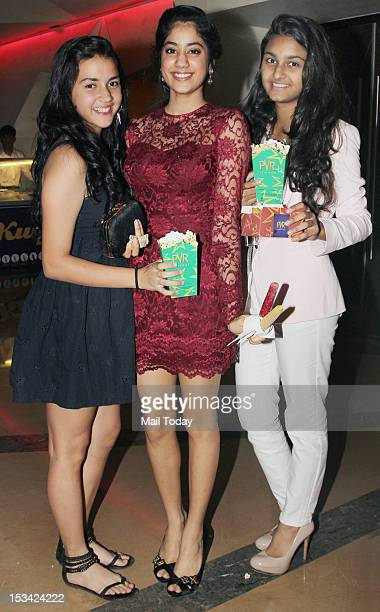 Jhanvi Kapoor during the premiere of the movie 'English Vinglish' held at PVR Cinema in Mumbai on October 4 2012