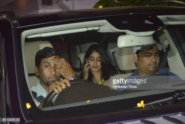 Jhanvi Kapoor spotted at salon in Juhu on July 6 2017 in Mumbai India
