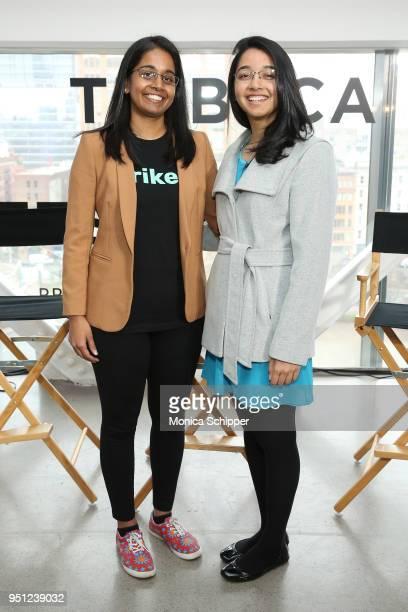 Jhanvi Shriram and Ketaki Shriram attend 'Future of Film AR We There Yet' during the 2018 Tribeca Film Festival at Spring Studios on April 25 2018 in...