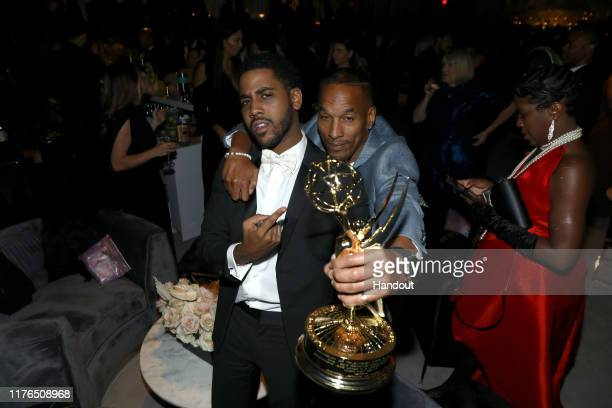 Jharrel Jerome and Korey Wise attend the 2019 Netflix Primetime Emmy Awards After Party at Milk Studios on September 22 2019 in Los Angeles California