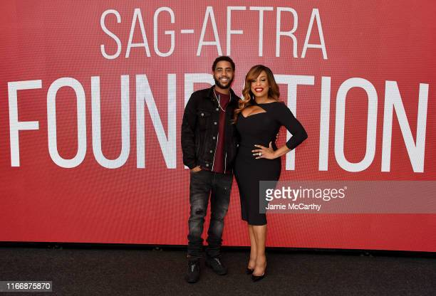 Jharrel Jerome and Niecy Nash attend the SAGAFTRA Foundation Conversations With When They See Us at The Robin Williams Center on August 08 2019 in...