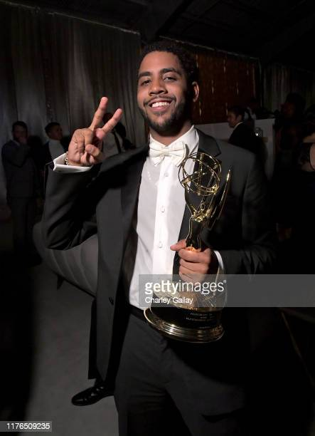 Jharrel Jerome attends the 2019 Netflix Primetime Emmy Awards After Party at Milk Studios on September 22 2019 in Los Angeles California