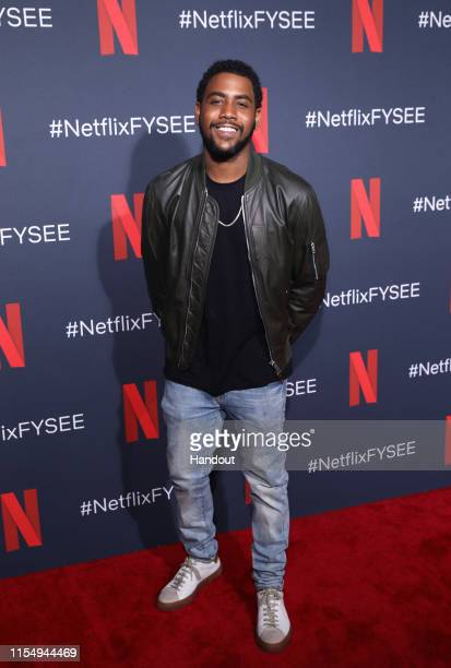 Jharrel Jerome attends the Netflix When They See Us FYSEE Event at Raleigh Studios on June 09 2019 in Los Angeles California