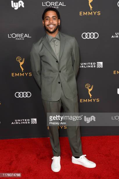 Jharrel Jerome attends the Television Academy honors Emmy nominated performers at Wallis Annenberg Center for the Performing Arts on September 20...
