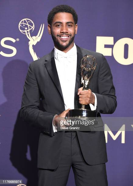 Jharrel Jerome poses at the 71st Emmy Awards at Microsoft Theater on September 22, 2019 in Los Angeles, California.